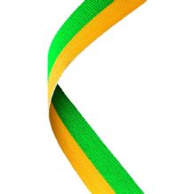 GREEN/YELLOW RIBBON TWO COLOUR